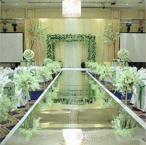 جديد وصول 1.2 متر واسعة 10 متر الكثير لامعة الزفاف المركزية ديكور عداء الممر الفضة البلاستيك مرآة السجاد شحن مجاني