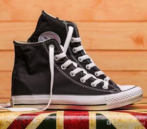 Падение корабль Новая звезда большой размер 35-45 высокий топ Повседневная обувь низкий топ спортивные звезды Чак классический холст кроссовки мужская / женская Canv