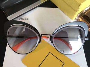 Designer EYESHINE 0247 / S preto / cinza com sombra Óculos De Sol Da Marca de Moda Olho de Gato óculos de sol eyewear Novo com Caixa