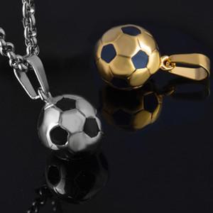 Futbol Kolye 2018 Rusya Dünya Kupası Yeni Futbolseverler Souvenir Maç Altın Gümüş Renk 3D Spor Futbol Takı Erkekler Aksesuarı