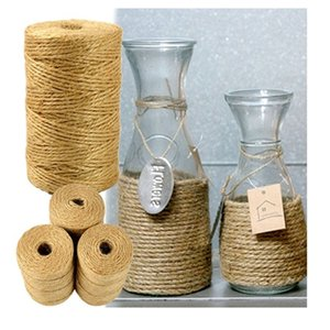1 Roll 100M Natural Sisal 2mm Rustic Tags Wrap Wedding Decoration DIY Crafts Twisted Rope Party Supplies For Gift Packing Bags