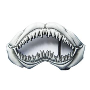 New Vintage Sculpting Shark Teeth Belt Buckle Boucle de ceinture