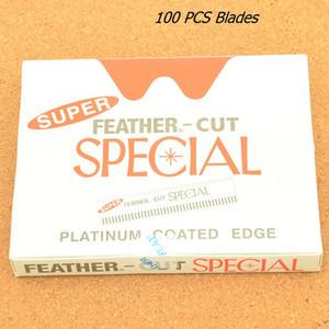 100 STÜCKE Edelstahl Sharp Barber Rasierklingen männer Gesichtspflege Rasur Rasierklingen Frauen Schönheit Schaben Augenbraue Messer Make-Up-Tool HD0001