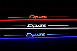 Imperméable Acrylique Moving LED Bienvenue Pédale De Voiture Scuff Plate Pédale Porte Sill Chemin Lumière Pour Chevrolet Cruze 2016 2017