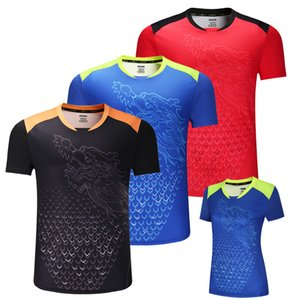 Yeni ÇIN Ejderha masa tenisi gömlek Erkekler, ping pong gömlek, Çin masa tenisi formaları, masa tenisi giysi spor Gömlek Y1893006