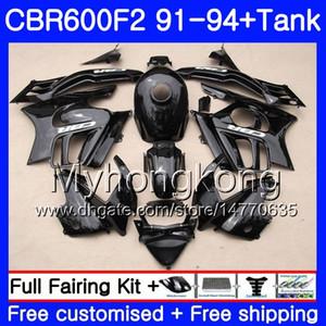 هيكل لهوندا CBR 600 F2 FS CBR600 F2 1991 1992 1993 1994 1MY.70 CBR600FS CBR 600F2 CBR600RR CBR600F2 91 92 93 94 طقم طلاء أسود
