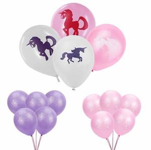 Heiße Art und Weise 10inch Cute Unicorn Muster Latexballons Kinder Spielzeug-Geburtstags-Party-Hochzeit-Dekorationen Freies Verschiffen