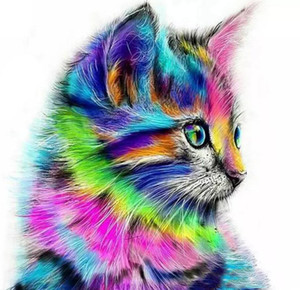 2018 New Pittura Diamante Diy Animali Gatto Scoiattolo 5d Diamante Quadrato Mosaico Punto Croce Kit Pittura Diamante Pieno Aneto Ricamo
