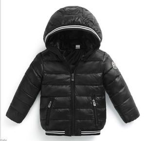 Abrigo de invierno de los muchachos de las muchachas de la chaqueta de los cabritos de los niños Abrigos calientes Abrigo de los niños 2018 Ropa de los cabritos de la primavera de las muchachas de la manera Abrigo con capucha abajo