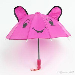 Karikatur-nette Katzen-Regenschirm für Kinderhandbuch-Regenschirme Praktisches vorzügliches Bumbershoot mit langem Griff kreatives Ohr-Katzen-Dekor 4sy ii