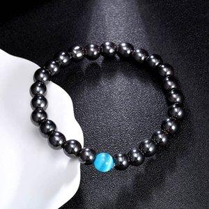 8 мм натуральные каменные пряди бисером браслеты браслеты эластичный браслет для женщин мужчины энергии шарм мода ювелирные изделия