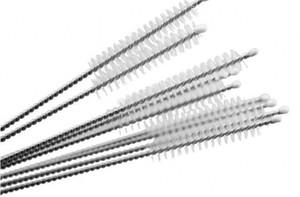Nylon paja botella de alimentación de acero inoxidable de limpieza Cepillo de limpieza de bebida limpiadores de pipa 170 mm de largo
