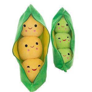 2018 neue 25 CM Nette Baby Plüsch Spielzeug Erbse Gefüllte Tiere Pflanze Puppe Kawaii Für Kinder Jungen Mädchen geschenk Hohe Qualität erbsenförmigen Kissen C5571