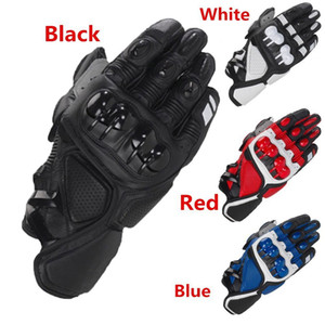 Кожаные перчатки гонки S1 Мотоцикл перчатки вождения велосипеда Велоспорт Мотоцикл Спорт Мото Спортивные перчатки для Yamaha KAWASAKI велосипед