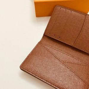 M60502 Designer France Top Luxury organizador de bolsillo titular de la tarjeta Mono Gran Canvas Brown White Checkered Canvas envío gratuito de la buena calidad