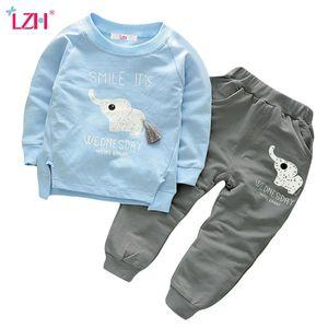 LZH Kinder Kleidung 2018 Herbst Winter Jungen Kleidung Set T-shirt + Pants 2 stücke Outfit Kinder Kleidung Anzug Kleinkind Jungen Kleidung Sets Y1893004