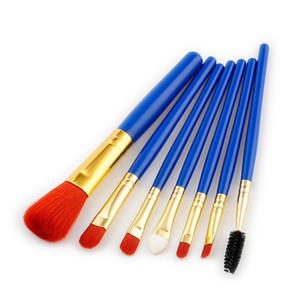 7Pcs Professional Makeup Brushes Set Face Powder Foundation Concealer Brush Eyeshadow Eyebrow eyelash lip Make Up Brushes