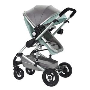 Çok fonksiyonlu 3 1 Bebek Arabası Alüminyum Alaşım Çerçeve Yüksek Peyzaj Bebek Arabası Ücretsiz Kargo