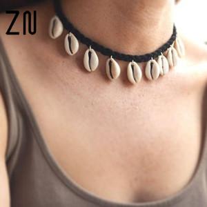 Sea Shell Choker Halskette Schmuck Bohemian Beach Quaste Halskette Shell Kette für Frauen Kragen Chocker