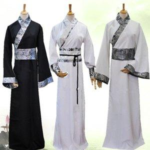Chinese Hanfu tradicional por Homens Tang Dynasty Costume antigo Folk roupas de dança Desempenho Stage Outfit Cosplay Robe