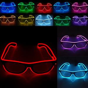 Новый светодиодный партии очки Мода El проволока очки день рождения Хэллоуин партии бар декоративные поставщик Светящиеся очки Очки Hh7-808