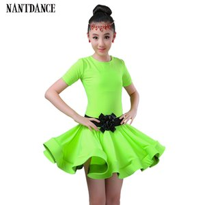 Girl Latin Dance Enfants Danse Dress Pour Filles Cha-Cha Kid Compétition Latin Dress Danse Fille Ballet Dancewear Enfant Latin Costume
