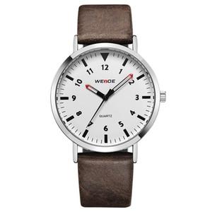 Relojes para hombre de primeras marcas de lujo 2018 WEIDE Reloj Moda para hombre de negocios Reloj de cuarzo Cinturón minimalista Relojes masculinos Relogio masculino