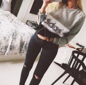 Vente chaude 2018 printemps et en automne femmes fleeve hoodies imprimés lettres AD sweat-shirt décontracté des femmes hoody sudaderas