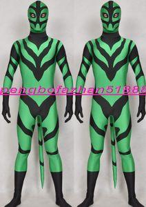 Verde / Preto Spandex Lycra Traje de Super-heróis Catsuit Trajes Unisex Fantasia Superhero Suit Outfit Unisex Trajes de Super Herói do Dia Das Bruxas Terno 194