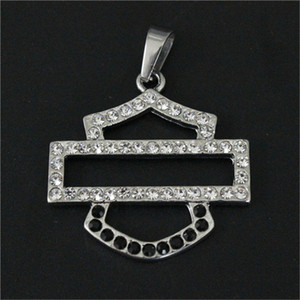5pcs lot Biker Style Crystal Unisex Pendant 316L Stainless Steel Jewelry Popular Hot Selling Motorcycles Pendant