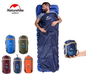 في الهواء الطلق المحمولة مغلف كيس النوم 190 * 75cm حقيبة سفر التنزه معدات التخييم في الهواء الطلق والعتاد وسادة النوم M222