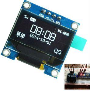"""Ücretsiz kargo! 1 adet / grup 0.96 inç IIC Seri Beyaz OLED Ekran Modülü 128X64 I2C SSD1306 12864 LCD Ekran Kurulu 0.96 """"Arduino için"""