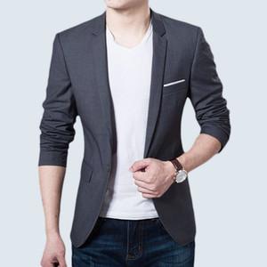 high quality Blazer Mens Casual Jacket Solid Color polyester fibre Men Blazer Jacket Men Classic Mens Suit Jackets Coats