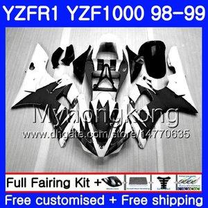 Carrozzeria per YAMAHA YZF R 1 YZF 1000 YZF1000 YZFR1 98 99 Telaio 235HM.23 YZF-1000 YZF-R1 Nero fiamme calde 98 99 Corpo YZF R1 1998 1999 Carenatura