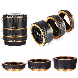 Freeshipping Adaptador de Lente De Alumínio TTL Foco Automático AF Macro Anel de Extensão do Anel para Câmera Canon EF EF-S Adaptador de Lente Da Câmera acessórios