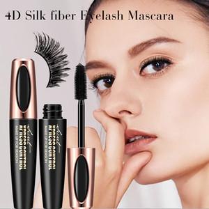 Nuevo Hot 4D Silk Fiber Lash Mascara Mascara impermeable para la extensión de pestañas Black Thick Alargamiento de pestañas