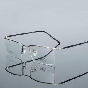 Uomo da uomo d'affari per il tempo libero flessibile mezza montatura per occhiali Montatura per sopracciglia Ottica montatura per miopia Montatura per occhiali da vista