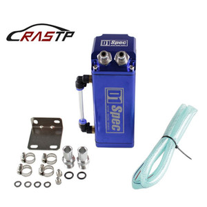 RASTP -Universal D1 Turbo Engine Square Shape Oil Catch Tank Can Reservoir Performance - Silver,Blue,Red RS-OCC002