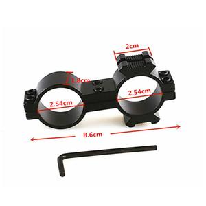 25.4mm 30mm Dual Scope Ring Duplo Anéis Lanterna Scope Visão Tubo de Montagem de 20mm Trilho Lateral para Rifle Caça Tático Acessórios