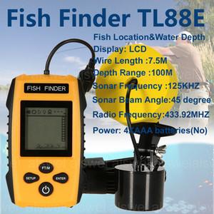 Vendita calda di trasporto libero Brand New KDR allarme 100m Portable Sonar LCD Fish Finders Fishing lure Echo Sounder Fishing Finder