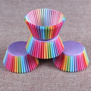 PVC barriled borda do arco-íris de cozimento Baron bolo bolo de papel independente de chocolate titular embalagem cerca de 100