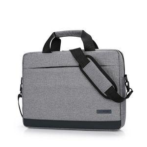 "Alta Qualidade Laptop Pastas Unisex Sólidos ombro Waterproof Bag Bussiness Homens Mulheres portáteis Malas para 14 ""15"" 15.6"" Macbook"