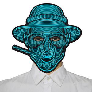 2018 LED Masken Kleidung Big Terror Masken Kaltlicht Helm Feuer Festival Party Glühende Tanz Steady Sprachaktivierte Musik Maske