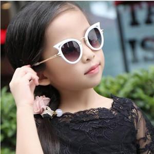 Crianças óculos de sol meninas óculos de sol cat eye crianças óculos meninos uv400 lente do bebê óculos de sol bonito eyewear shades goggles 6 cor post livre