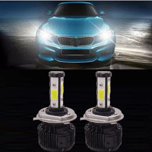 LED 400W 40000LM H7 자동차 헤드 라이트 키트 자동차 전면 빛 안개 전구 화이트 6000K LED 헤드 램프 H1 H11 9005 9007 교체 제논 키트