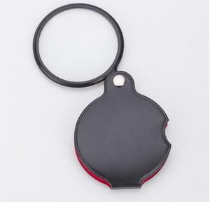 Pocket Büyüteç Lens Katlanabilir Cam Takı Döngü Takı Büyüteç taşınabilir Mini Siyah 50mm 10x El-Tutun Okuma Anlamada