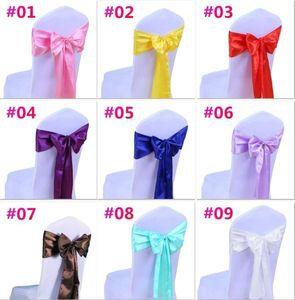 Mariage couverture de chaise Sash Bow Tie ruban décoration de soirée de mariage fournitures 16 couleurs pour choisir C176