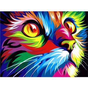 "KEXINZU Diamante Pieno 5D Pittura Diamante DIY ""Cute cat"" Ricamo Punto Croce Strass Mosaico Pittura Decor Regalo"