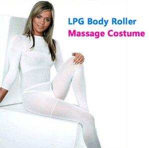 2018 Sonderangebot !!! Weiß / Schwarz LPG Body Roller Massage Kostüm Vacuum Slimming Anzug für Therapiegerät CE / DHL Freies Verschiffen