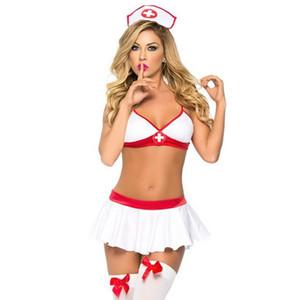 Yaramaz Seksi Hemşire Kostümleri Kadınlar Için Erotik Iç Çamaşırı Lingerie Seksi Sıcak Erotik Kostümleri Cosplay Doktor Takım Hemşire Üniforma S918